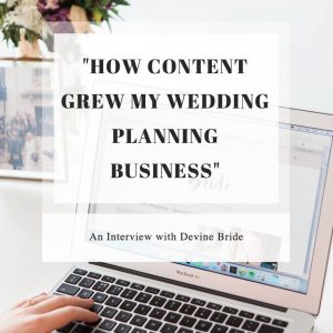 Copywriting for wedding planners and your wedding planning business