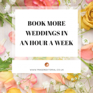 Discover wedding marketing strategies and support tasks you can implement in an hour or less - perfect for busy wedding businesses in peak wedding season.